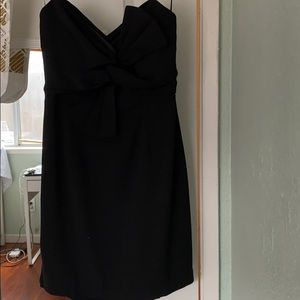 A beautiful strapless black little dress